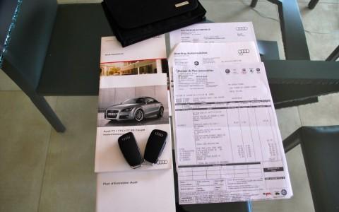 Audi TT 1.8 TFSI 160 S-Line Carnet et factures d'entretien disponibles.