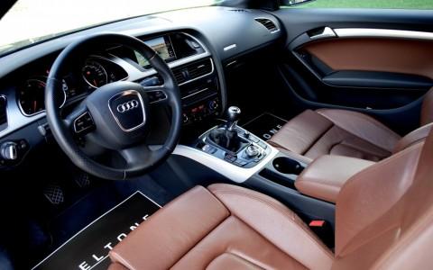 Audi A5 3.0 TDI 240cv Ambition Luxe Quattro Sellerie Cuir Milano Brun Marronnier