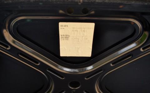Porsche 996 Carrera 4S X51 3.6 345 cv Etiquette constructeur d'origine sur capot avant