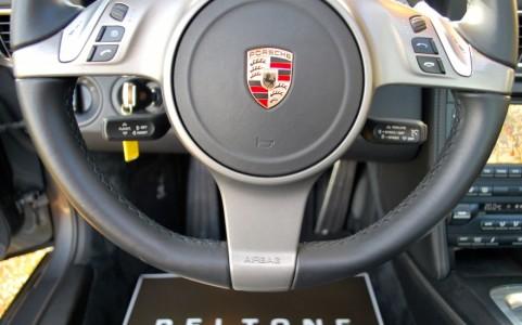 Porsche 997 Carrera S 3.8 385cv PDK 844 : Volant multifonctions 3 branches en cuir lisse pour PDK