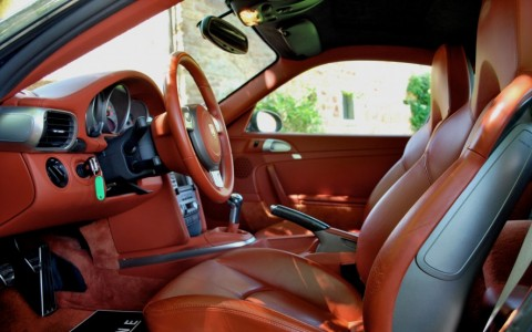 Porsche 997 Carrera S 3.8 355cv 936 / 981 / 983 : Intérieur tout cuir étendu couleur Terracotta