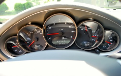 Porsche 997 Targa 4 3.6 325cv XCL : Entourage des instruments AluDesign