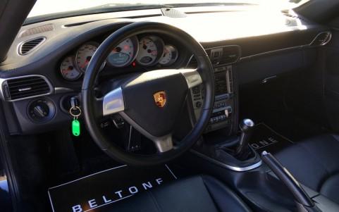 Porsche 997 Carrera S 3.8 355cv 459 / 991 : Volant 3 branches en cuir lisse