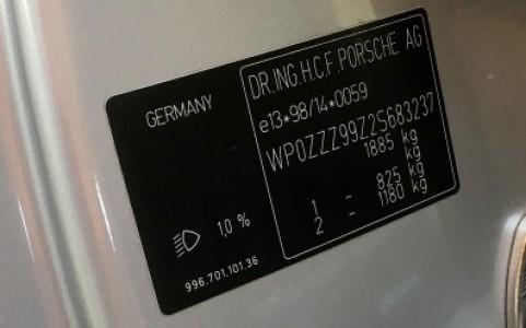 Porsche 996 Turbo 3.6 420cv WP0ZZZ99Z2S683237