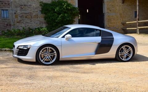 Audi  R8 4.2 FSI Quattro 420cv 6H3 : Sideblades Carbone Sigma : Arches verticales en carbone sigma
