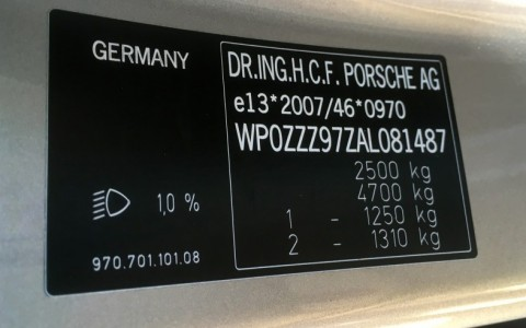 Porsche Panamera Turbo PDK WP0ZZZ97ZAL081487