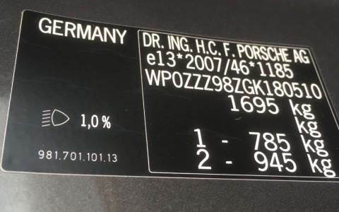 Porsche Cayman GTS PDK WP0ZZZ98ZGK180510