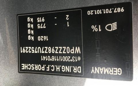Porsche Cayman 987 2.7 245cv WP0ZZZ98Z7U752291